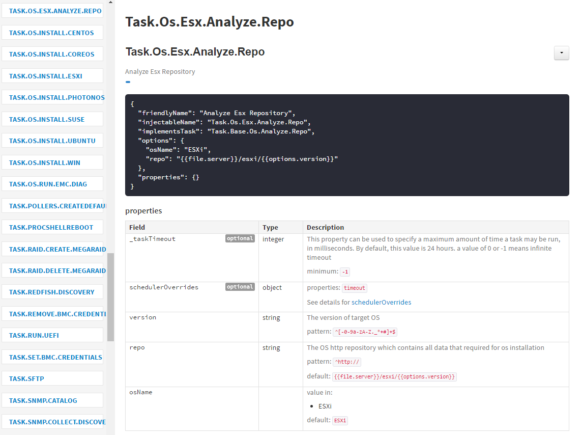 6 9  Workflow Tasks — RackHD 2 0 documentation