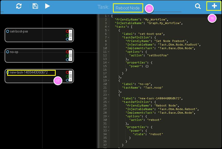 Workflow Editor — RackHD 2 0 documentation